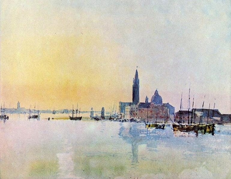 William Turner - Venezia. San Giorgio dalla dogana, 1819